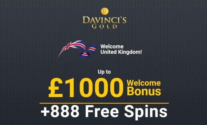 Bonus at Da Vinci's Gold Casino